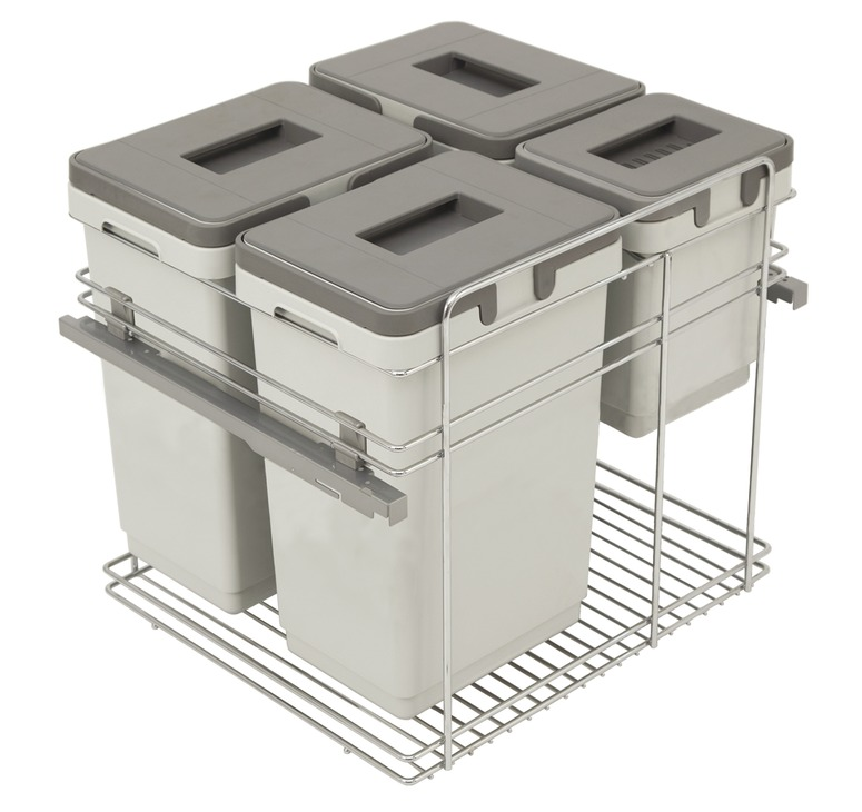 Pull Out Waste Bin For Door Front Mounting 3x 20 And 1x9 Litres Kombi Fit My Kitchen