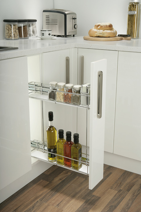 Pull Out Storage, Chrome Wire Baskets. Cabinet Width 150 ...